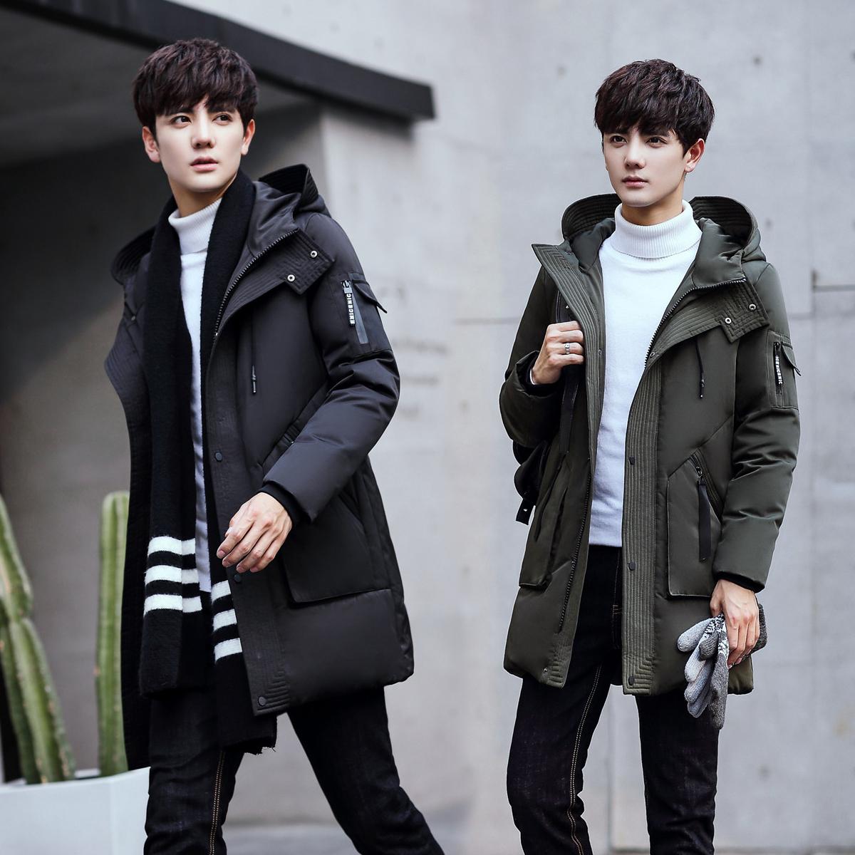 2017 mùa đông mới bông nam phần dài thanh niên Hàn Quốc phiên bản của tự trồng dày xuống bông pad sinh viên áo khoác thủy triều