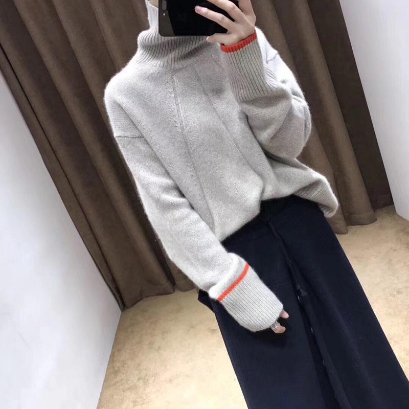 【恒源祥清仓】100%羊绒高领针织衫女