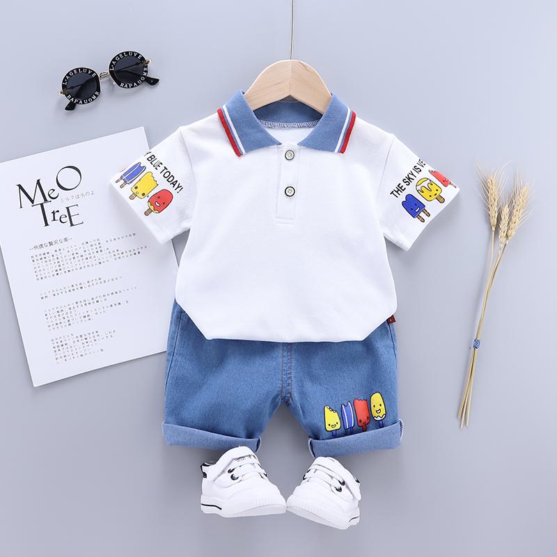 男童夏装套装2021夏季新款小童装儿童帅气宝宝洋气牛仔裤两件套潮
