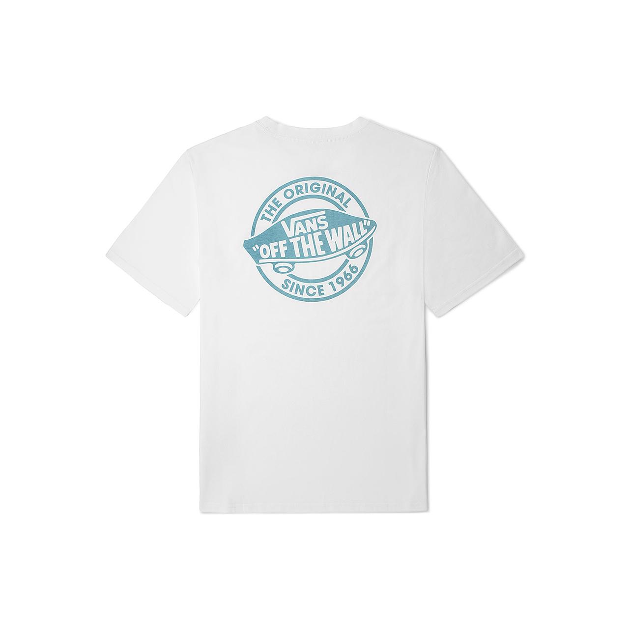 【双11】Vans范斯官方 白色香芋紫LOGO个性高街情侣短袖T恤