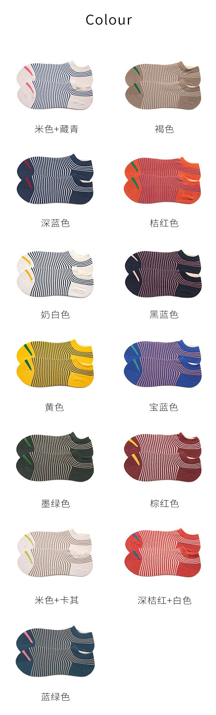袜子女短袜浅口条纹隐形袜夏季薄款低帮日系潮透气详细照片