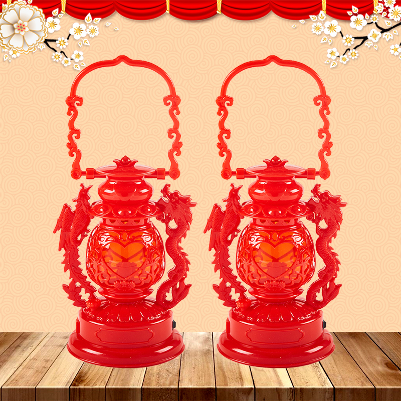 Wedding supplies Dragon and Phoenix Children's lights new home moved into the house LED battery lights Baoji lamp wedding boat lights red horse lights