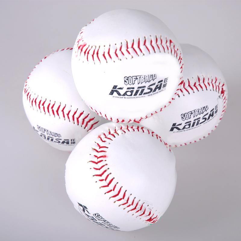棒球手工縫紉質感軟球 棒球 壘球實心中小學生練習考試用