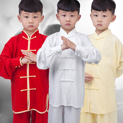 Children's Tai Chi Clothes, Boys and Girls'Cotton and Silk Chinese Children's Performance Clothes, Tai Chi Quan Practicing Gongfu Clothes