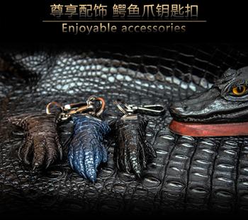 Брелки,  Навсегда блестящая кожа инструмент среда таиланд крокодил улов брелок природный крокодил лапа пряжка модель крокодил коготь ключи от машины кулон, цена 1285 руб