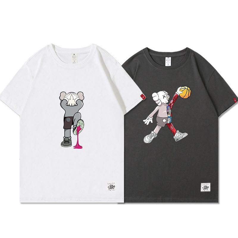 【希陌】【2件装】夏季ins潮牌短袖t恤
