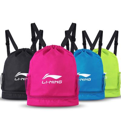 李宁防水包游泳干湿分离沙滩旅行泳包双肩背包男女健身收纳袋装备