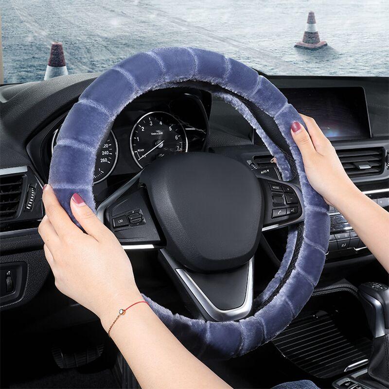 汽车方向盘套冬季短毛绒通用型