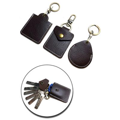 门禁卡套钥匙扣真皮小区长方圆形水滴感应包男电梯卡迷你IC保护套