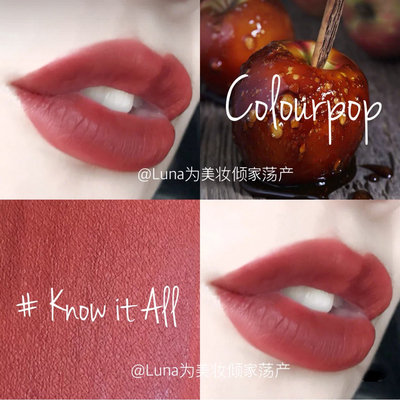 colourpop卡拉泡泡持久显色哑光唇釉防水Mama/Arriba/Know it all