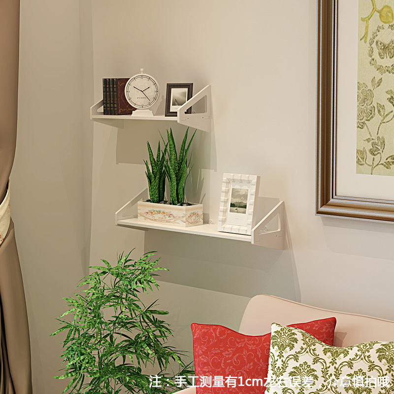 Wall Shelf Free Punching Bedroom Decoration Simple Flower Stand Hanging Living Room Bookshelf TV