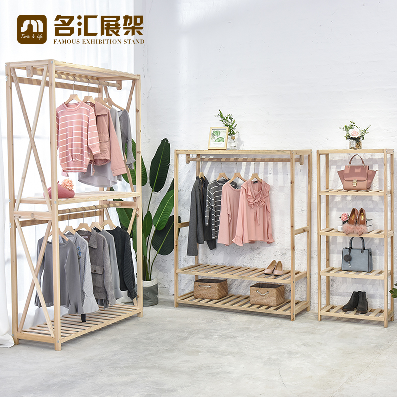 Exhibition Stand Clothes : Usd 110.09] clothing store retro womens clothes racks high grade