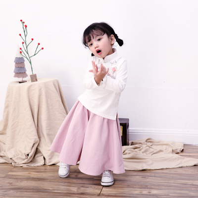 Real shot to improve children's clothing Chinese costumes Han Chinese and Western costumes baby dress 2-3-4-5 half skirt skirt