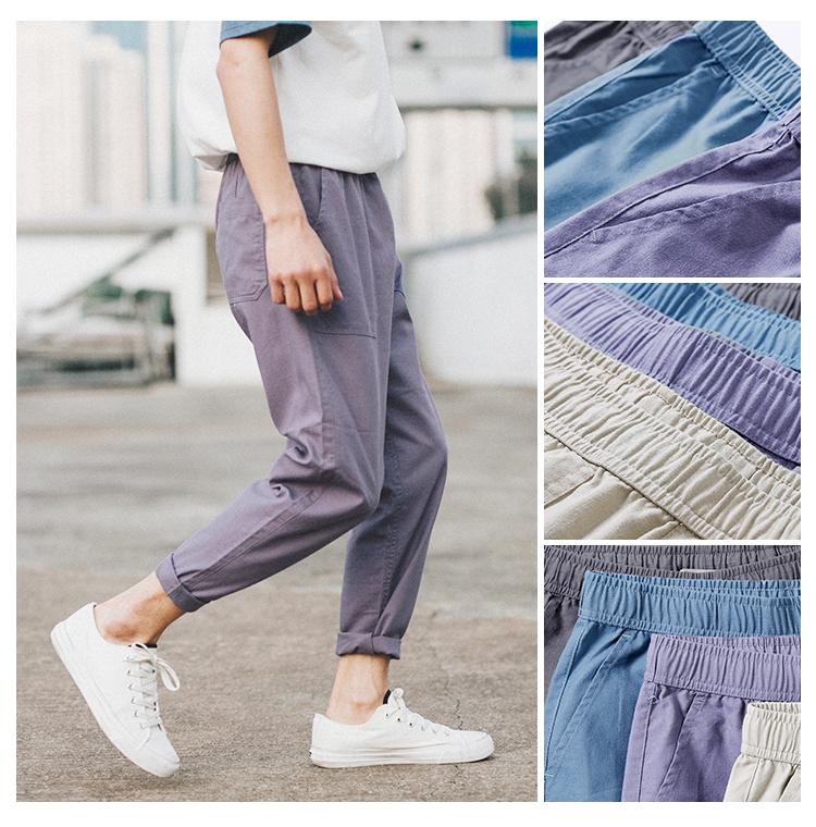 货号:GCZ-K17106  腰部抽绳棉麻裤 (售价低于69元投诉)P42