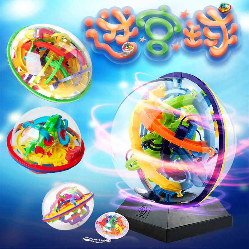 Rainbow Bridge 3D three-dimensional maze ball Intelligence toys adult magic  maze 299 off the beads children unzip gift