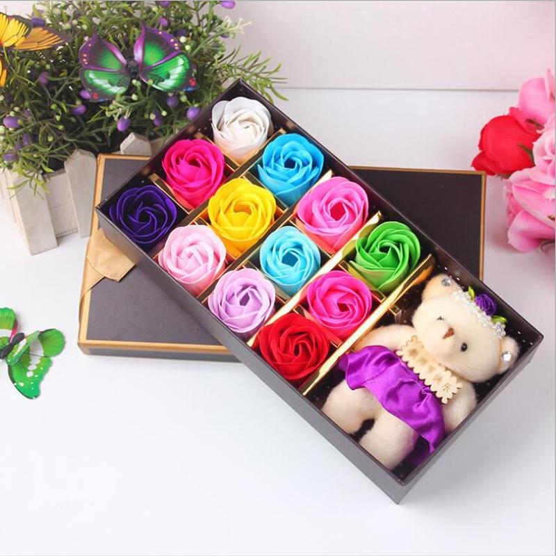 教师节礼物【12朵玫瑰+小熊公仔】