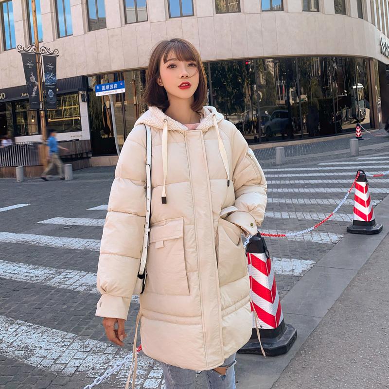 2019新款冬季外套女韩版宽松加厚百搭棉服中长款面包服棉衣棉袄潮