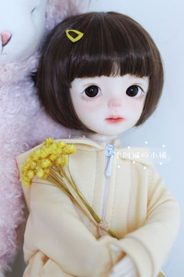 taobao agent Spot free shipping bjd doll baby super soft milk soft silk wig short hair deduction 8 points 4 points 6 points ob11