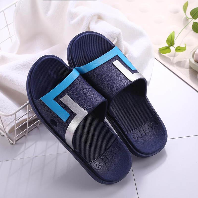 e8343d987 Summer outdoor slippers men bathe flip-flops non-slip plastic soft bottom  slippers men s