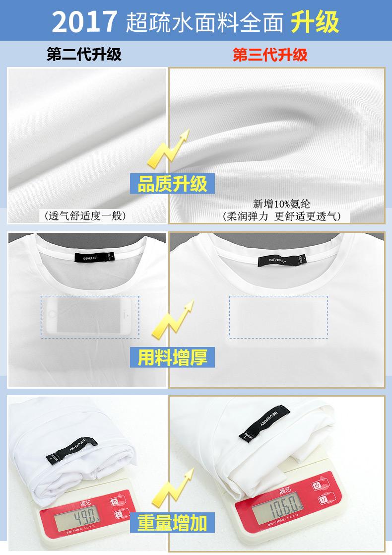 高仿圣罗兰ysl比菲力t恤男短袖创意黑科技防水ESB916 第12张