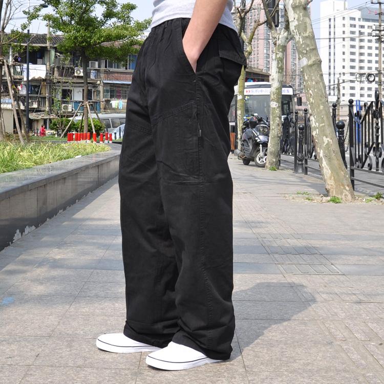 Mùa thu và mùa hè kích thước lớn quần âu cộng với phân bón XL lỏng quần chất béo phần mỏng yếm eo đàn hồi quần chất béo