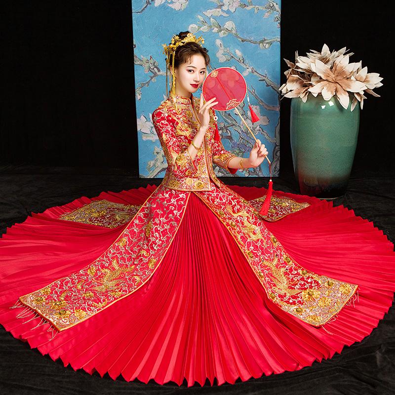 21b92144435d Xiuhe Dress Bride New Summer Dragon and Phoenix Wear Chinese ...