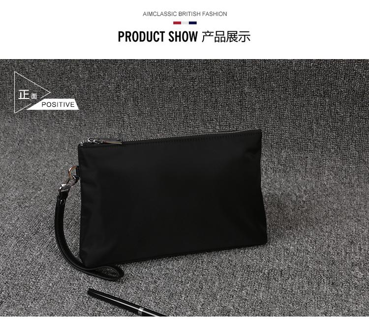 2fe6972d9 New men's handbags canvas clutch bag tide version casual fashion ...