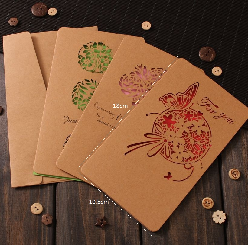 Usd 1169 creative greeting card hollow kraft paper card business lightbox moreview lightbox moreview m4hsunfo