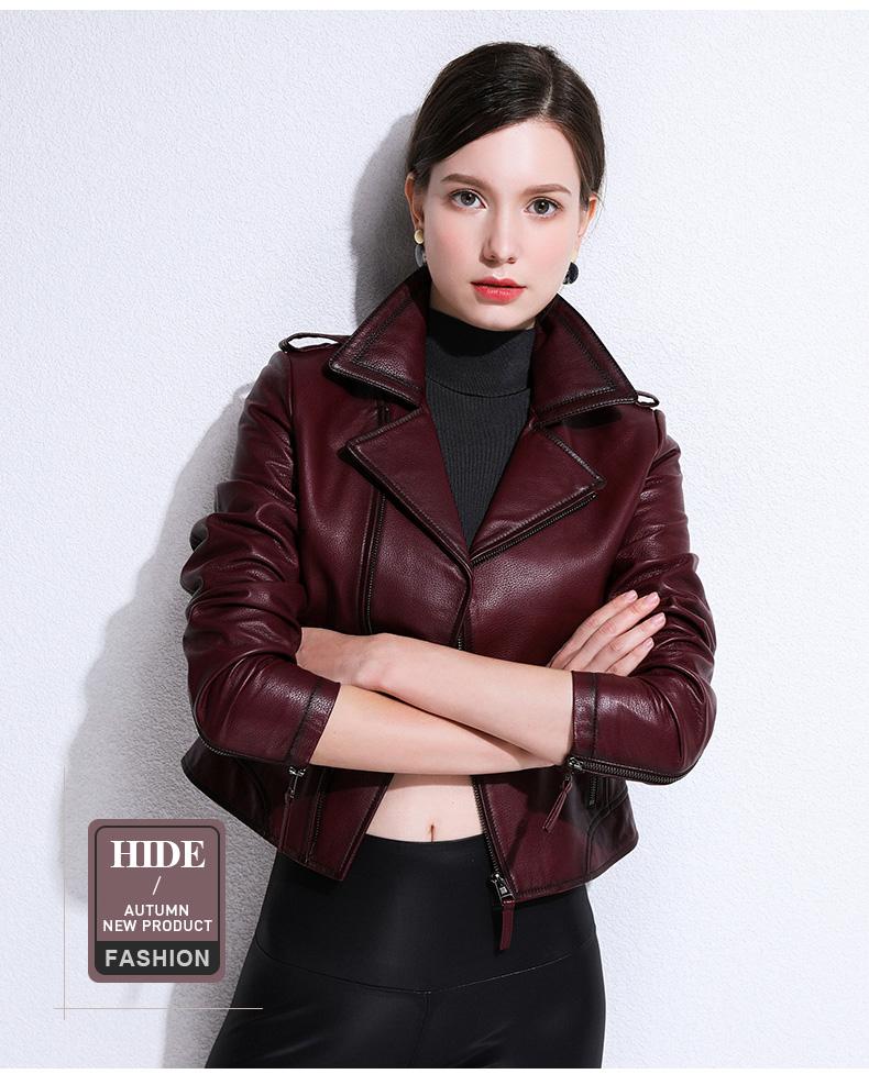European and American fashion 2020 spring and autumn new Henning sheepskin bodysuit jacket jacket leather woman 43 Online shopping Bangladesh