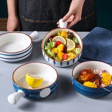 网红日式陶瓷手柄面汤碗