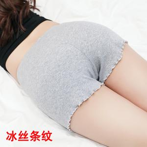 安全裤防走光女夏纯棉薄款大码胖mm内外穿宽松不卷边保险打底短裤