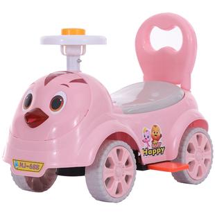 宝宝带音乐摇摆车溜溜车妞妞玩具车