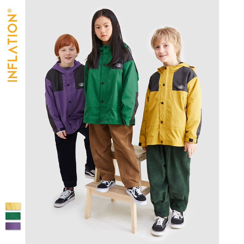 2019 New winter dress children's clothes boys storming jacket tide big children plus velvet jacket sweater windbreaker girl