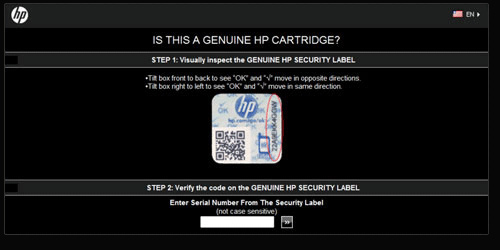 Validating new security label online