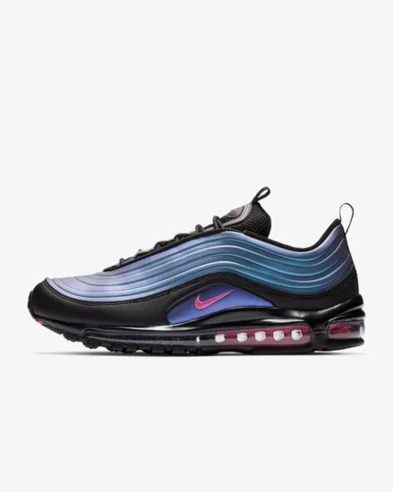 Nike air max 97 pure white bullet colorful stripe men's air unit running shoe bv6666 106 016