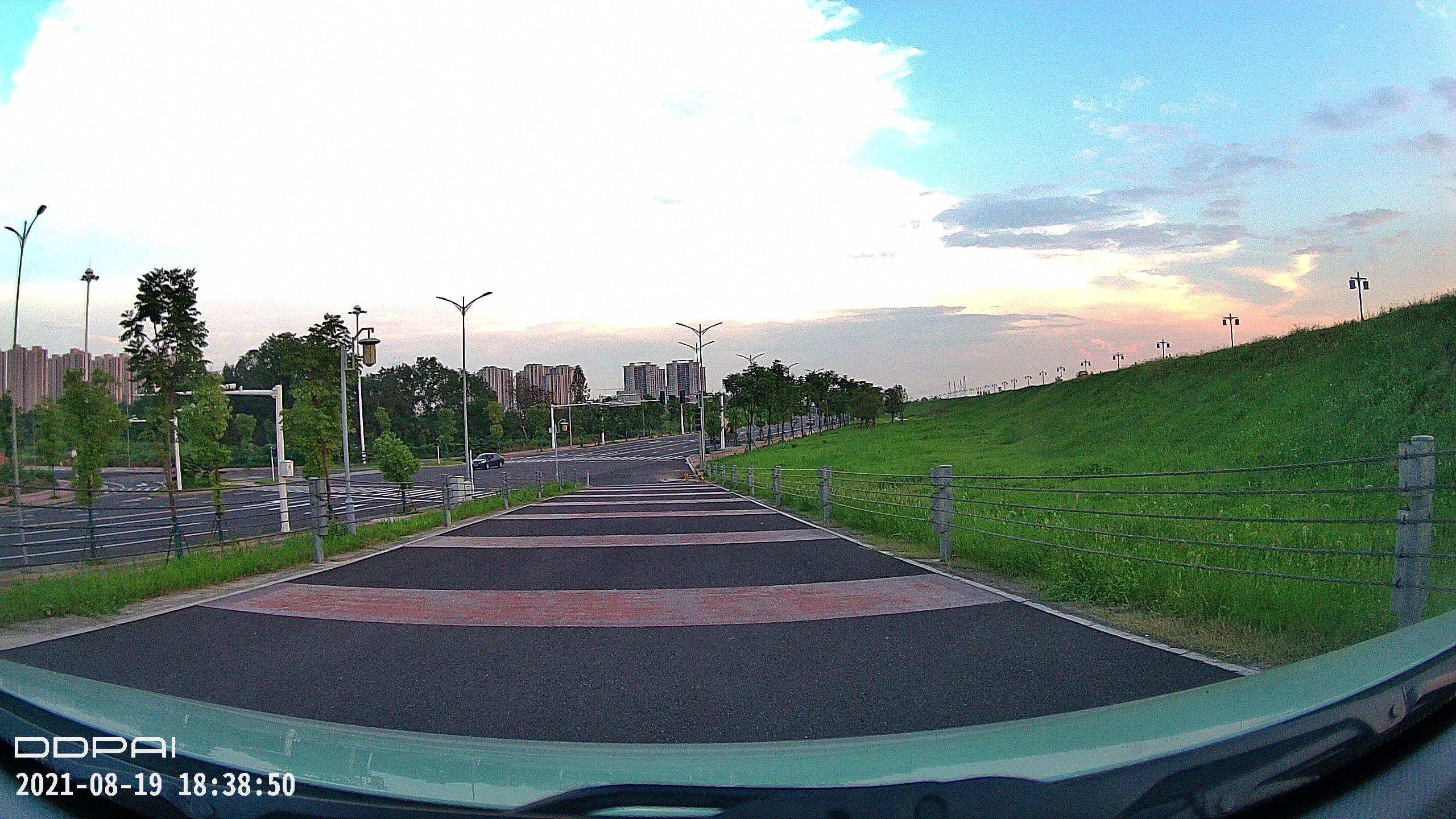 夕阳西下 很久很久没有见过这种风景了  视频 常德 第5张