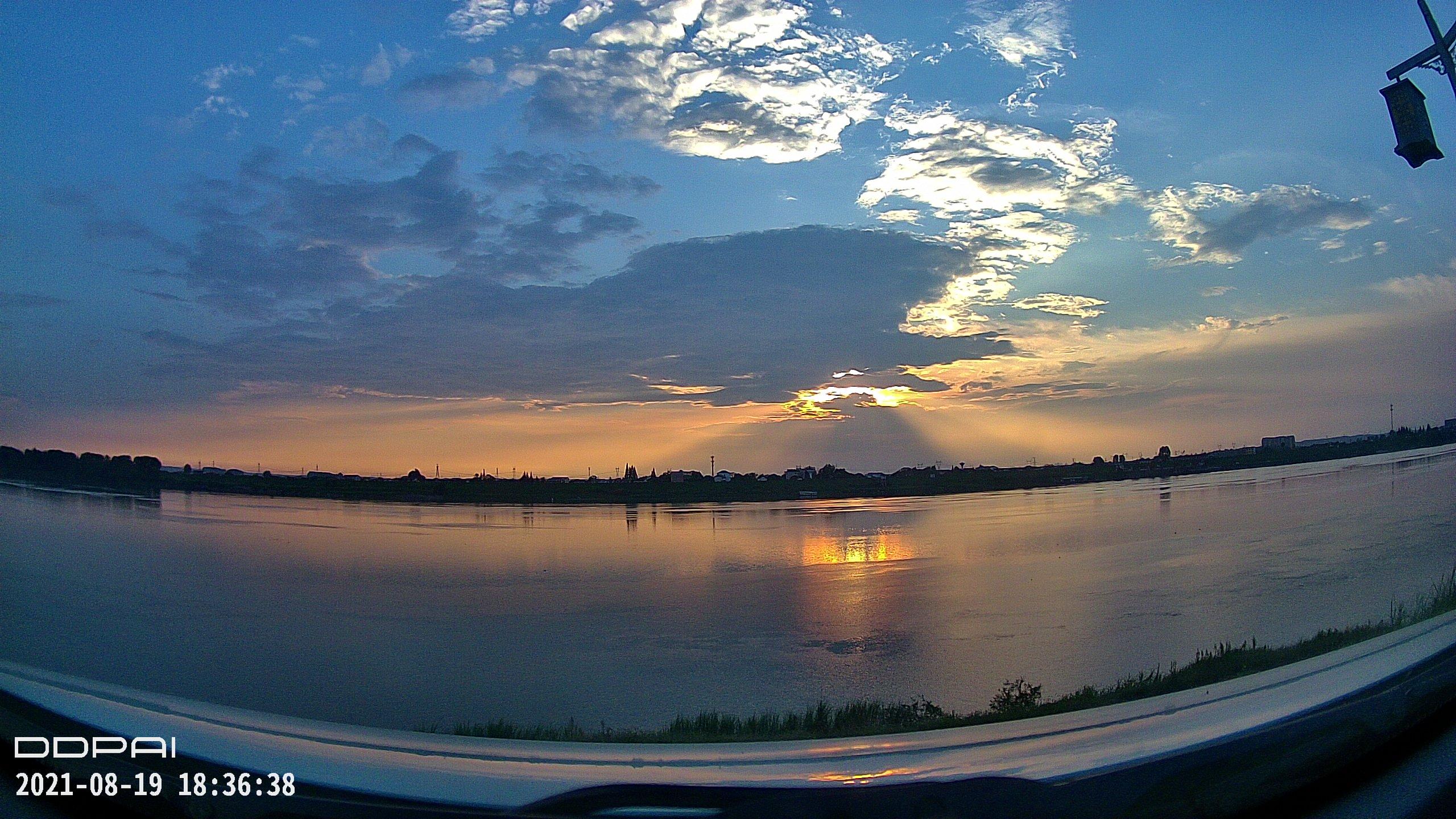 夕阳西下 很久很久没有见过这种风景了  视频 常德 第2张