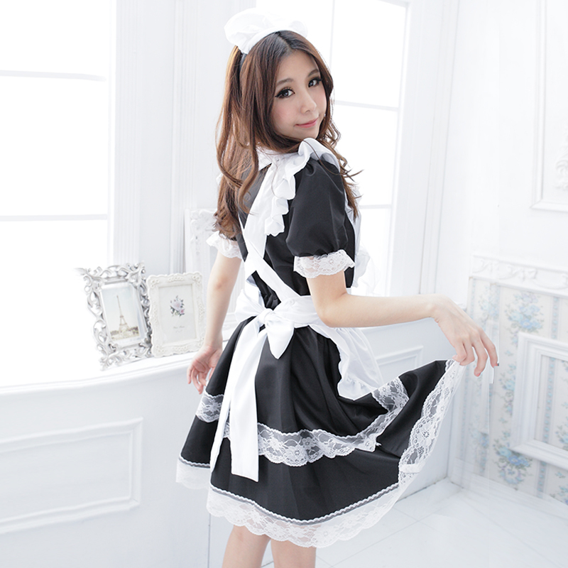 Maid outfit cosplay costume lolita show uniform cos anime maid Cosplay MoE costume full set  sc 1 st  ChinaHao.com & USD 39.14] Maid outfit cosplay costume lolita show uniform cos anime ...
