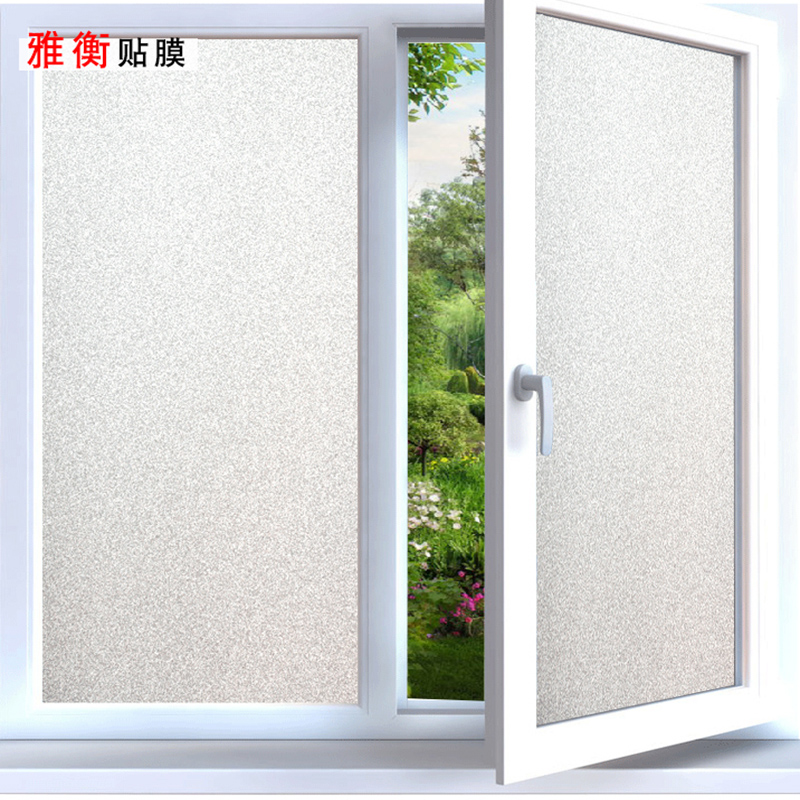 Translucent Bathroom Windows: Translucent Opaque Self-adhesive Frosted Sticker Glass