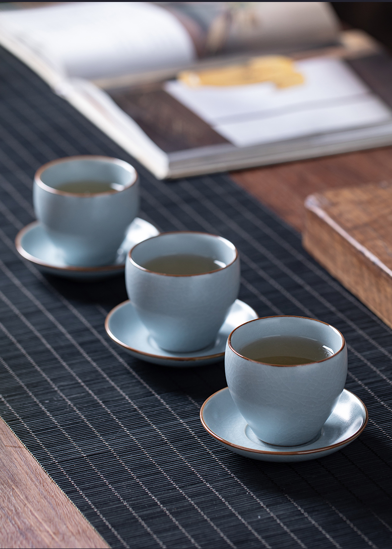 Ceramic cups open piece of kung fu tea cups personal your up special master cup single cup small tea sample tea cup