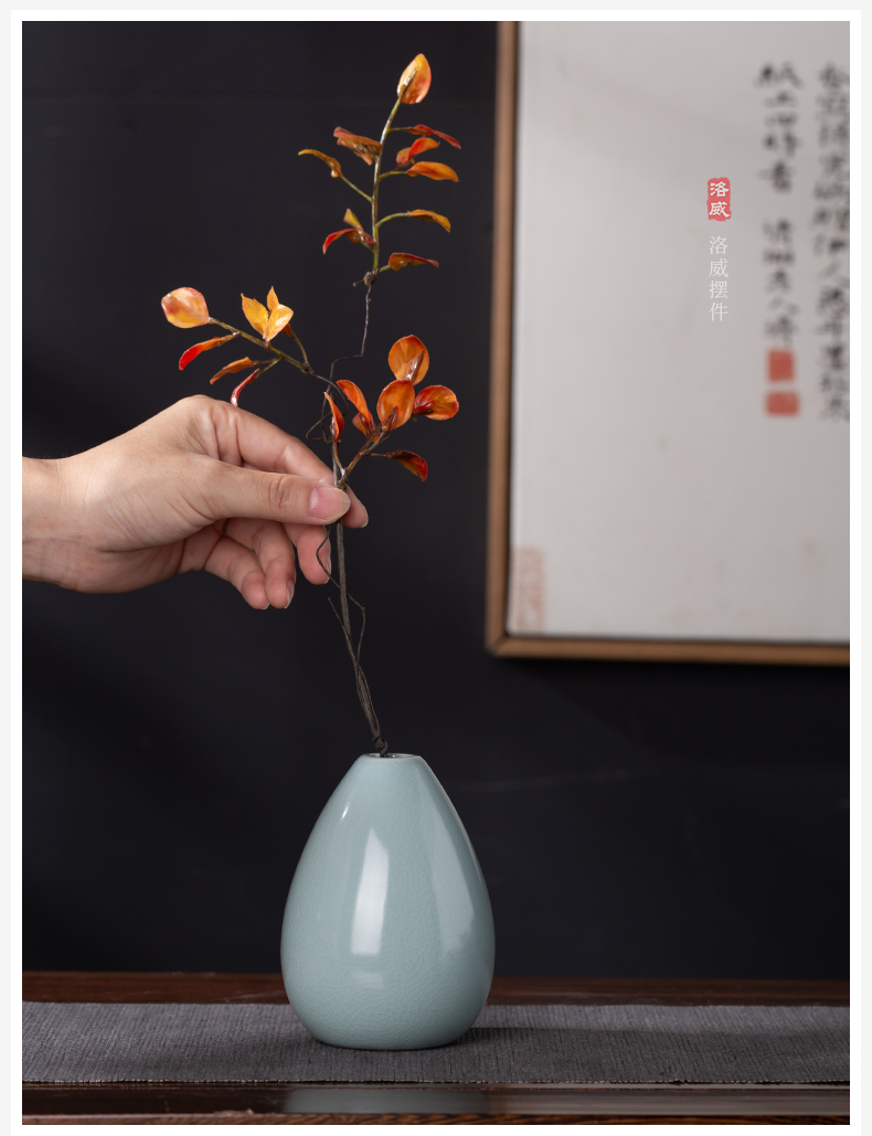 And your up cyan porcelain vase day I and contracted flower tea flowers inserted tea table furnishing articles accessories
