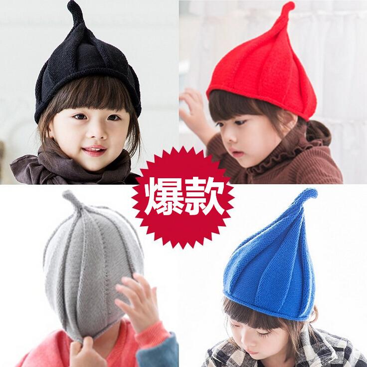 奶嘴帽0新生婴儿童3纯棉针织毛线帽子6春秋冬季12个月男女宝宝1岁