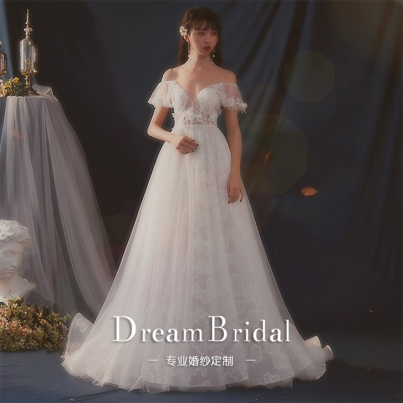 Sen Department of light wedding dress 2018 new bride wedding