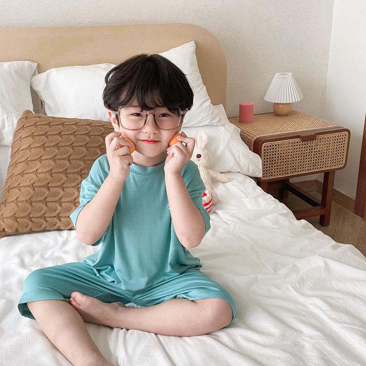 中國代購 中國批發-ibuy99 儿童卡通睡衣男童夏季短袖纯棉薄款男孩中大童宝宝夏天家居服套装