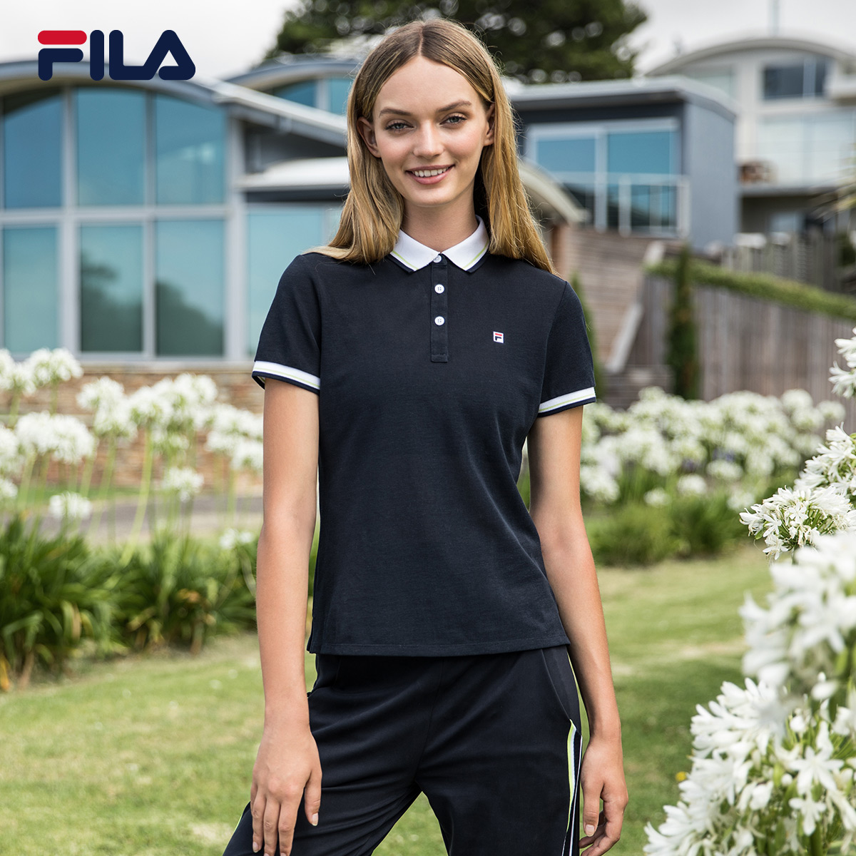 0a7f0015557f FILA Fei music Female 2018 summer new breathable business casual short-sleeved  POLO) F11W828121F