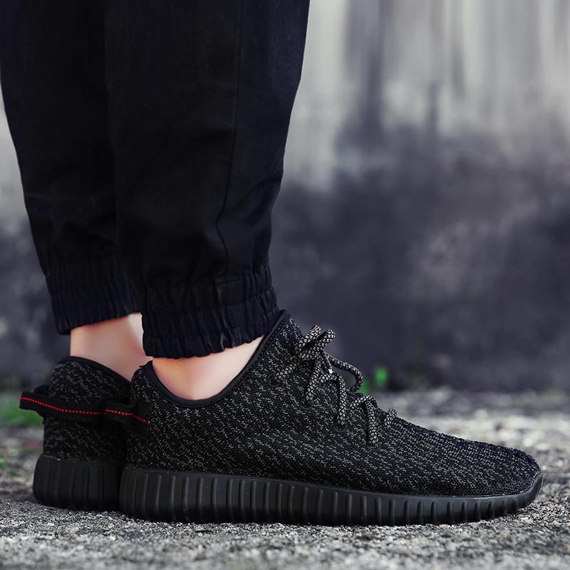 Мужская обувь весна обувь мужчина обувь тенденция холст воздухопроницаемый летать ткать кокос меш мужской и женщины спортивной обуви мужчина обувь casual