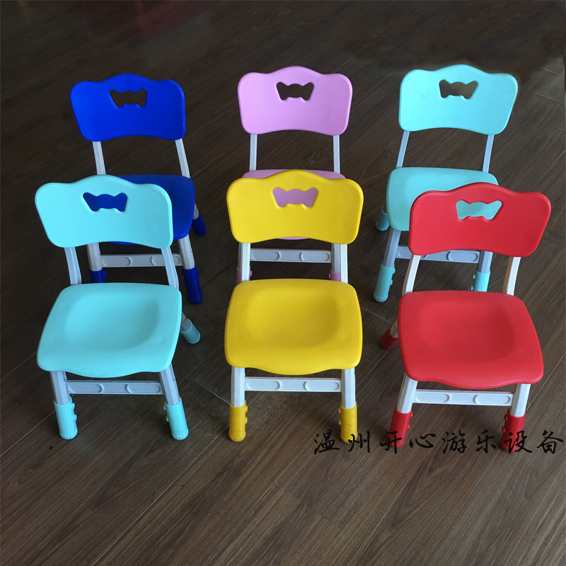 Thickened Toddler Chair Childrenu0027s Backrest Stool Plastic Baby Chair  Kindergarten Table And Chair Child Home Chair