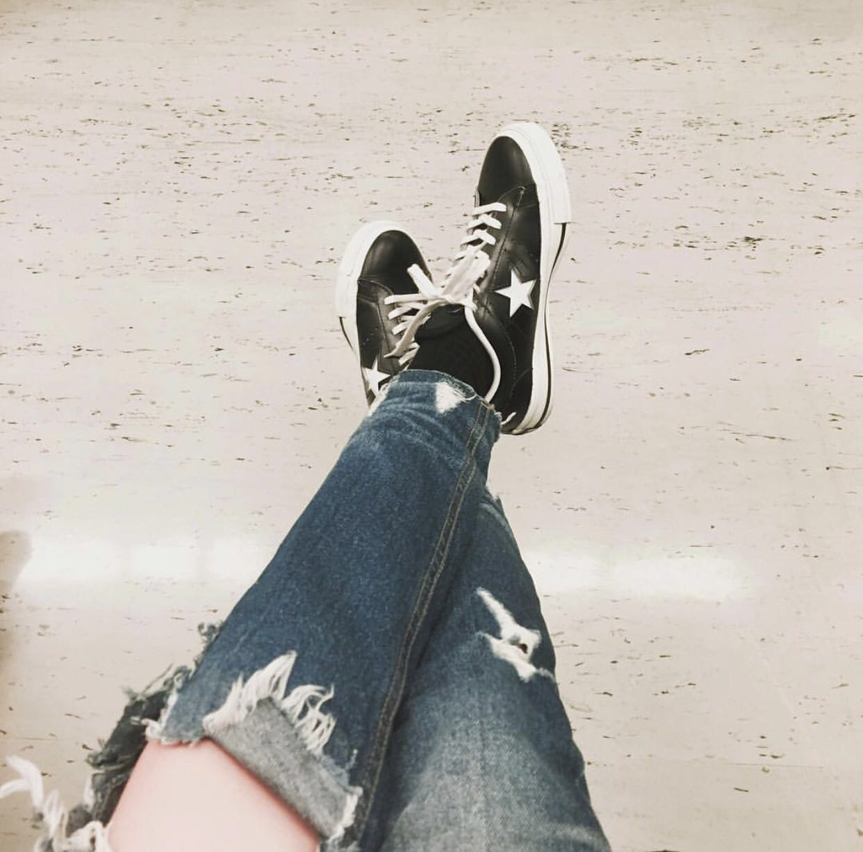 Japan Converse One Star J leather white star tie Nissan