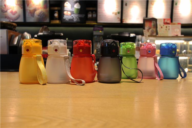 正品豆豆乐大肚水杯韩版可爱吸管杯创意便捷女学生小巧随手杯水瓶详细照片