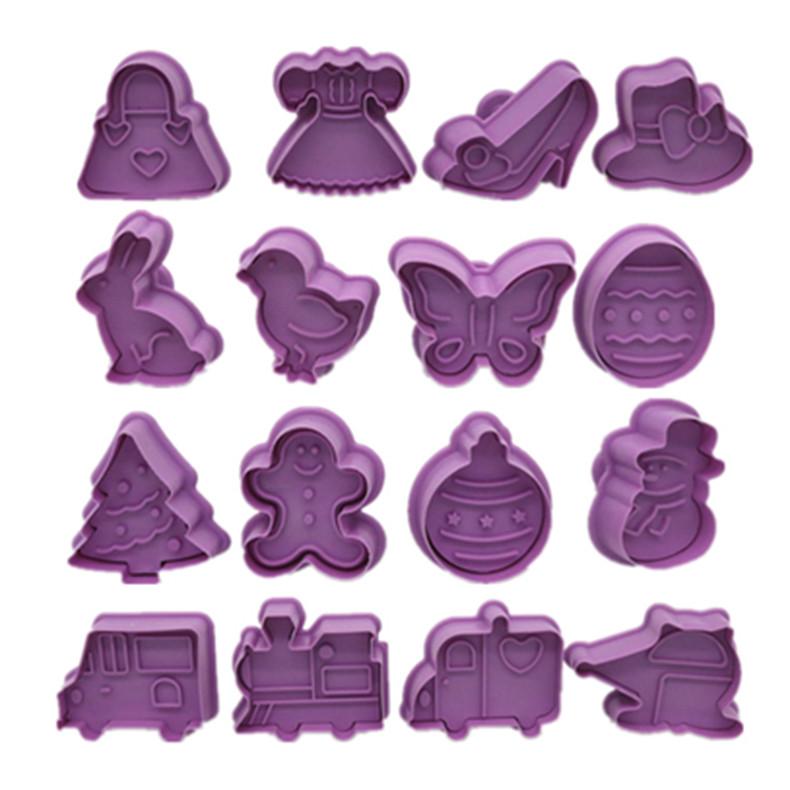 立体饼干模具烘焙家用卡通交通工具动物磨具烤箱做饼干弹簧曲奇印详细照片